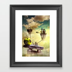 The place to be Framed Art Print