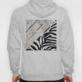 Zebra,marble texture design Hoody