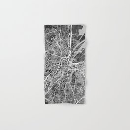 Belfast Northern Ireland City Map Hand & Bath Towel