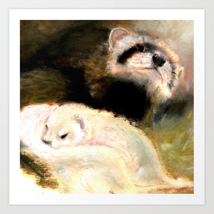 Ferret Mommy Art Print