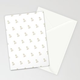 Classic Owl - White Stationery Cards