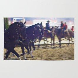 Feira da Golega 2015 3 horses 35 mm Rug