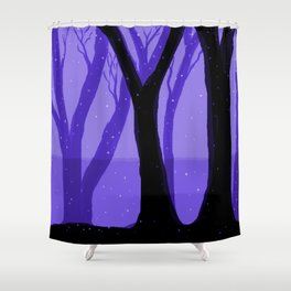 Magical Forest in Purple Shower Curtain