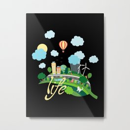 Eco Life Metal Print