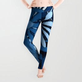 In The Tropics SKY BLUE - navy blue - and mid blue in a graphic display of color Leggings