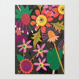 Jungle Flowers Canvas Print