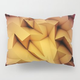 Colored crystal formation Pillow Sham