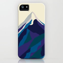 Mount Everest in Blue iPhone Case