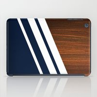 navy iPad Cases featuring Wooden Navy by Nicklas Gustafsson