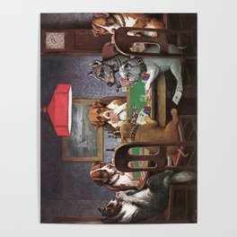 Dogs Playing Poker A Friend in Need Painting Poster
