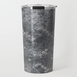 Grey Floral Texture Travel Mug
