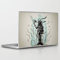 diver Laptop & iPad Skins featuring DIVER by taniavisual