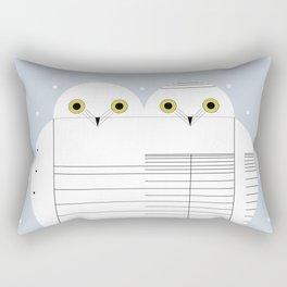 Snowy Owls Rectangular Pillow