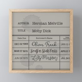 MOBY DiCK (1851) Framed Mini Art Print