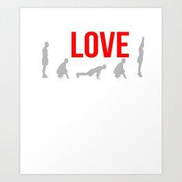 Burpees Squat Thrust Exercise Bodyweight Aerobic Strength Workout Training Gift Art Print