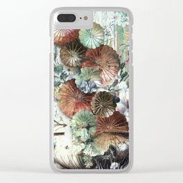 Abstract textured pastel floral still life Clear iPhone Case