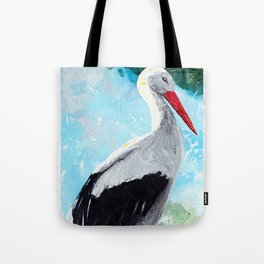 Animal - The beautiful stork - by LiliFlore Tote Bag