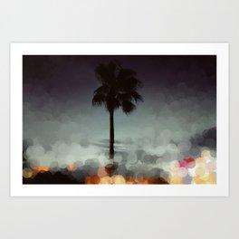Bokeh Beach  Art Print