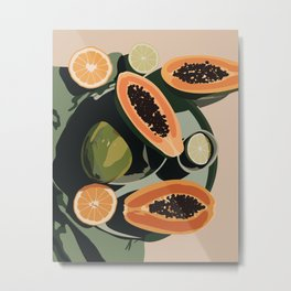 Papaya Metal Print