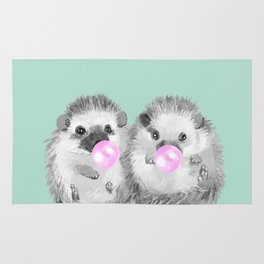 Playful Twins Hedgehog Rug