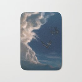 Chase the Stars (blue) Bath Mat