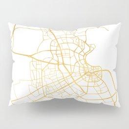 DOHA QATAR CITY STREET MAP ART Pillow Sham
