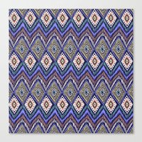 ikat Canvas Prints featuring IKAT by Isabella Salamone