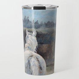 Horse in Morning Mist II Travel Mug