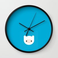 finn Wall Clocks featuring Finn by robin