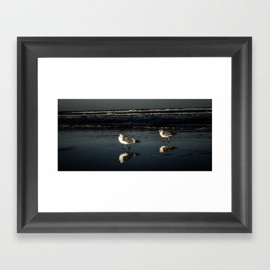 Sandpipers reflecting Framed Art Print