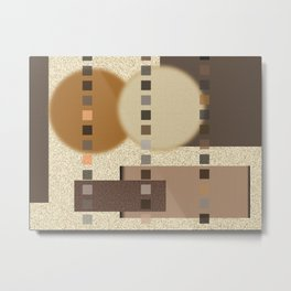 Neutral Abstract Metal Print