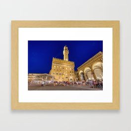 View of the Palazzo Vecchio Framed Art Print