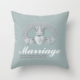 July Marriage Throw Pillow