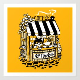 Cat Nap Cafe Art Print
