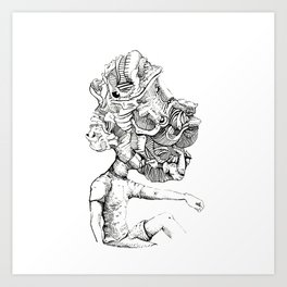 Trippy Head Art Print