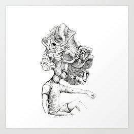 Trippy Head Art Print
