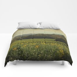 Once Upon a Time a Field of Flowers Comforters