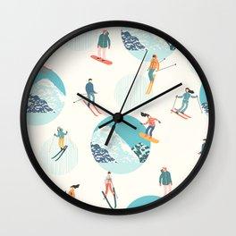 Ski pattern Wall Clock