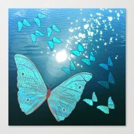 Bitwork Butterfly Canvas Print