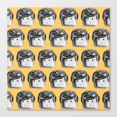 Minifigure Pattern – Yellow Canvas Print