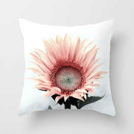 Pink Sunflower Throw Pillow