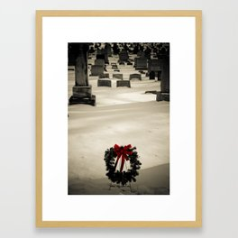 Christmas Grave Framed Art Print