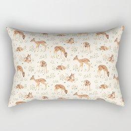 Wildflower Fawn Rectangular Pillow