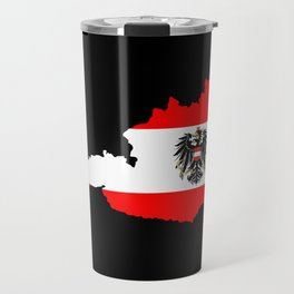 Austrian Flag and Map Travel Mug