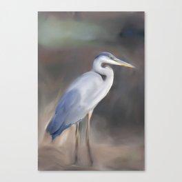 Blue Heron Paining  Canvas Print