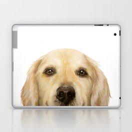 Golden retriever Dog illustration original painting print Laptop & iPad Skin
