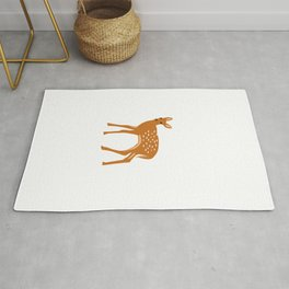 Baby Deer and Snow Rug