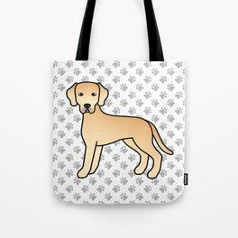 Yellow Labrador Retriever Dog Cute Cartoon Illustration Tote Bag
