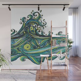 Crashing Wave Tangle Wall Mural