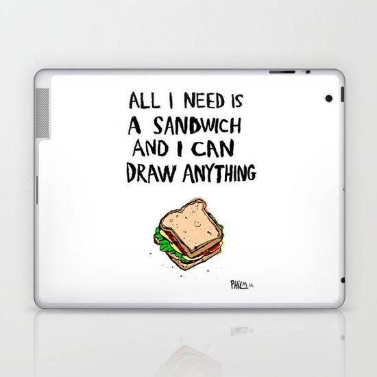 All I Need Is A Sandwich Laptop & iPad Skin